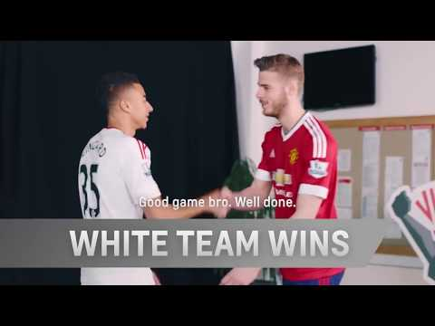 Football Pool  with  Manchester United's Jesse Lingard  David De Gea  Chevrolet FC