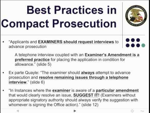 Patent Examiner Interviews - Part One: Motivation, History and Training HD