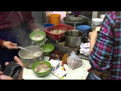 Hong Kong traditional congee steam rolls
