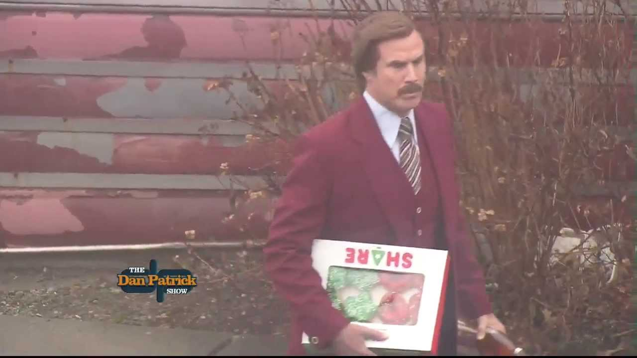 Man Caves Dan Patrick : Ron burgundy arrives in milford with treats 12 5 13 youtube