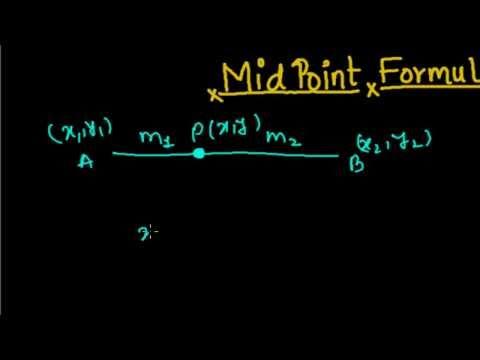 Midpoint Formula   Coordinate Geometry