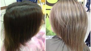 Выведение цвета волос из темного в русый // Removing dark Hair Color
