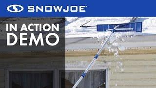 RJ204M - Snow Joe Roofer Joe 21-Foot Twist-N-Lock Telescoping Snow Shovel Roof Rake - Live Demo