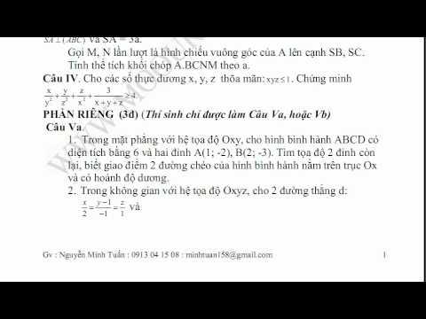 DE THI THU DAI HOC MON TOAN KHOI A,B,D