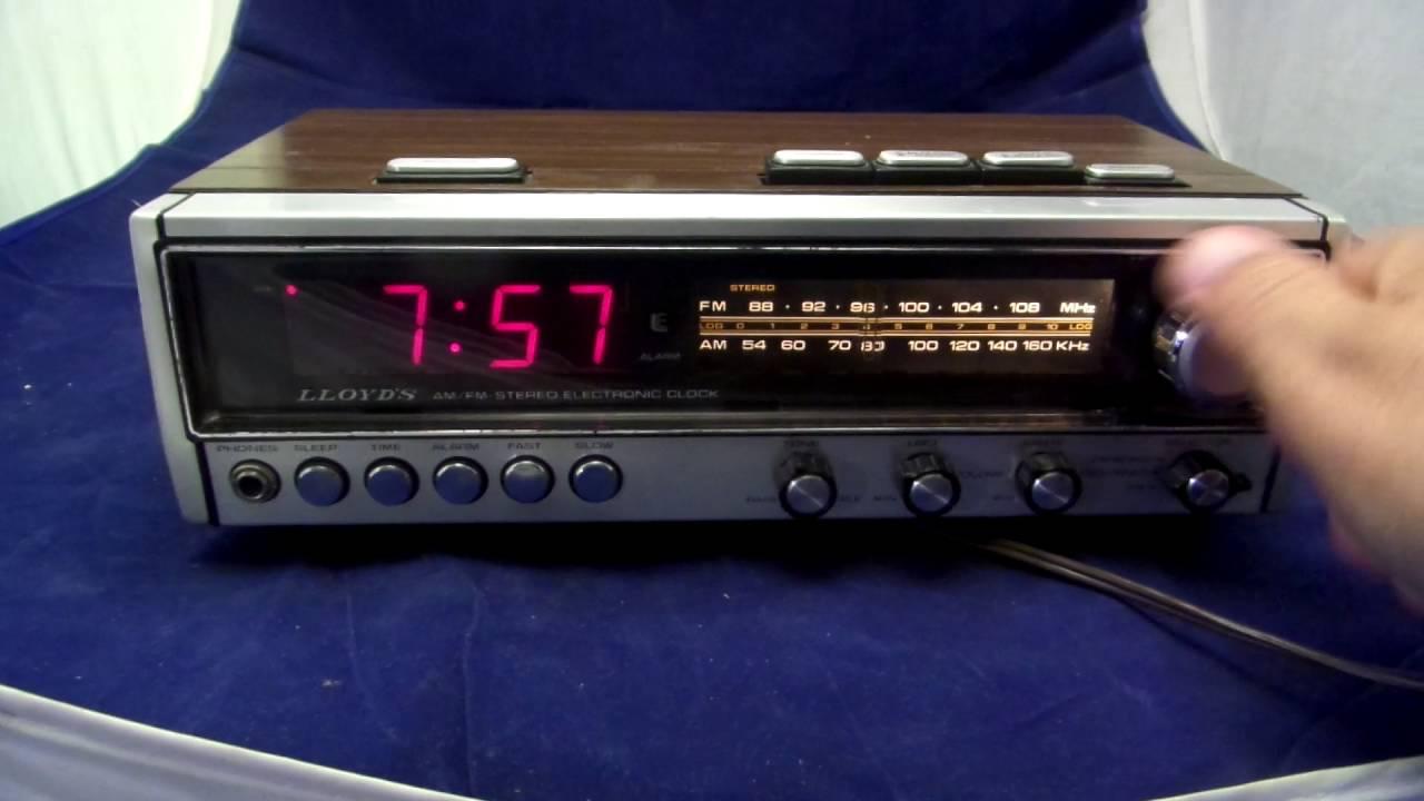 lloyd j242 stereo alarm clock radio for sale on ebay youtube. Black Bedroom Furniture Sets. Home Design Ideas
