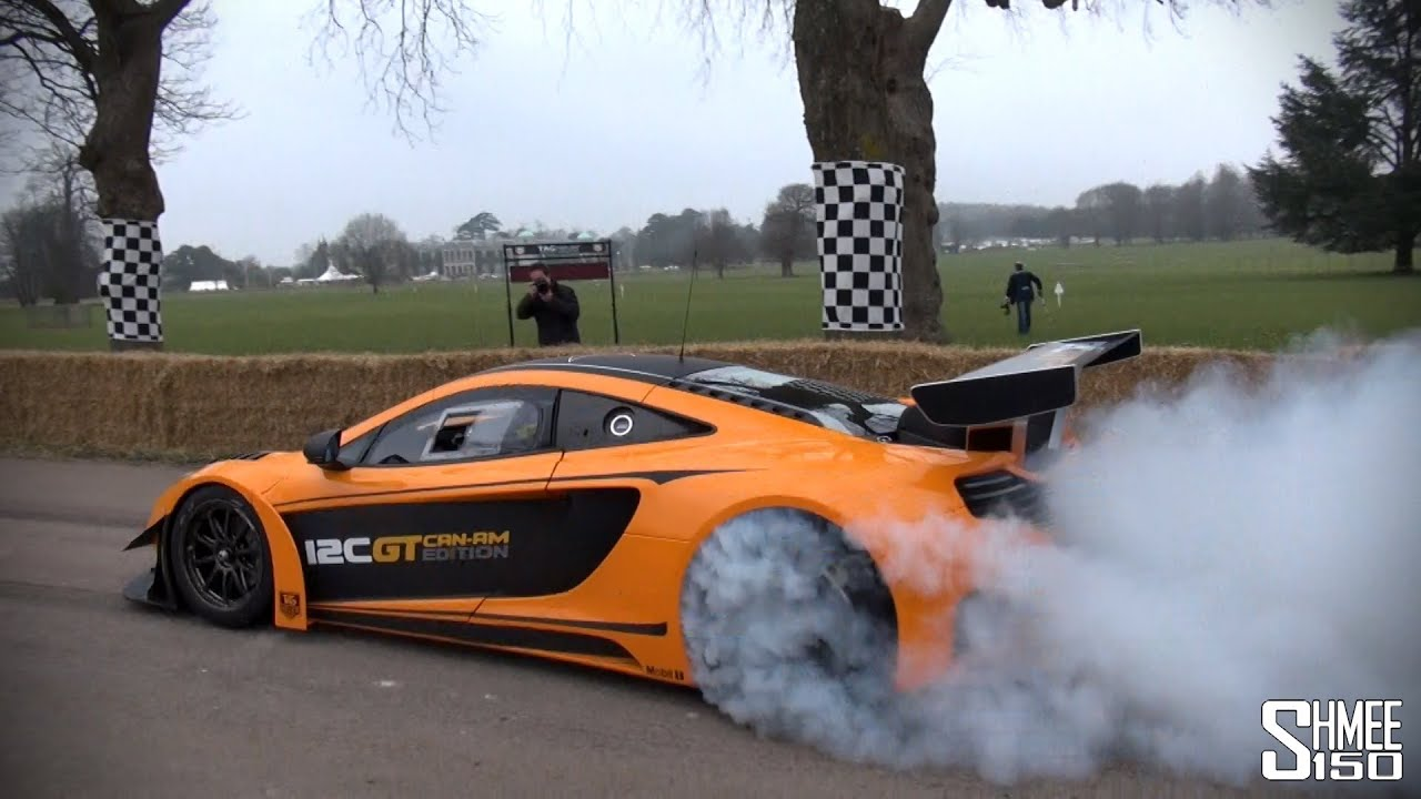 McLaren 12C GT Can-Am Edition - Burnouts, Accelerations and Flybys ...