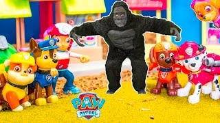 PAW PATROL Nickelodeon Paw Patrol Tickles the Gorilla a Paw Patrol Video Parody