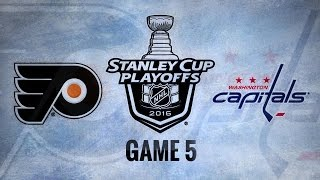 Flyers shut out Caps in Game 5, cut series to 3-2