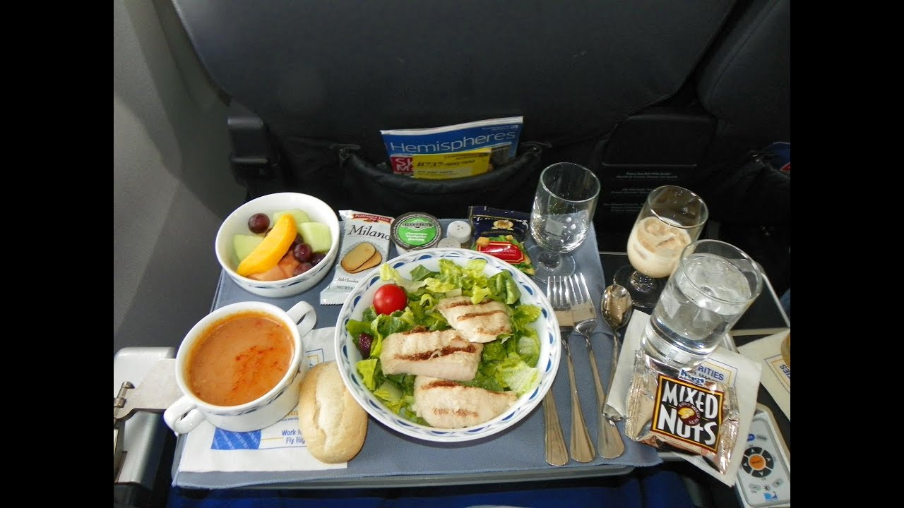 Hd continental airlines food service in first class for American continental cuisine