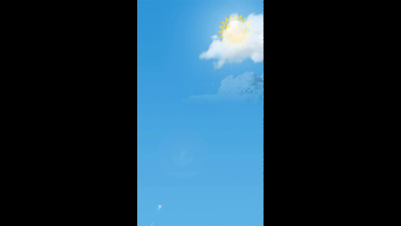 Animated Weather Wallpaper for iPhone App - YouTube