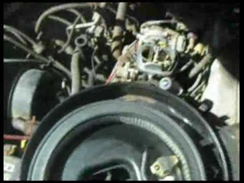 88 toyota pickup 22r carb video 3 AAP vac tube disconnected and shaky idle  YouTube