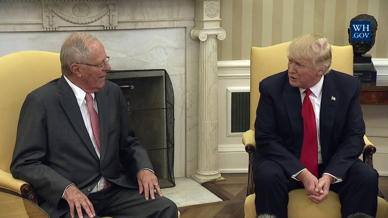 President Trump Meets With President Pedro Pablo Kuczynski of Peru