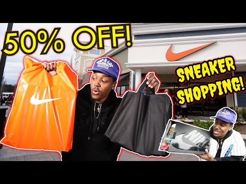 FINDING LIMITED SNEAKERS AT THE OUTLET & A MAJOR W! DOUBLE SNEAKER PICKUP! INSANE STEAL!