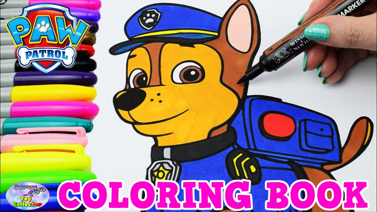 Paw Patrol Coloring Book Chase Episode Show Surprise Egg And Toy Collector SETC