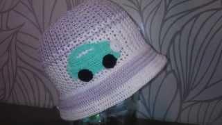 Панамка крючком для мальчика Boy crochet hat with brims