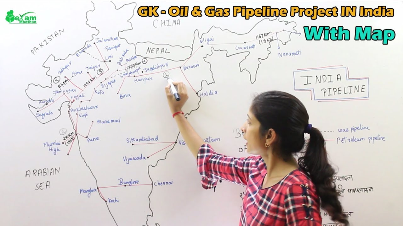 Pipeline GK - Important Pipeline In India | Indian Oil & Gas Pipeline  Projects With Maps