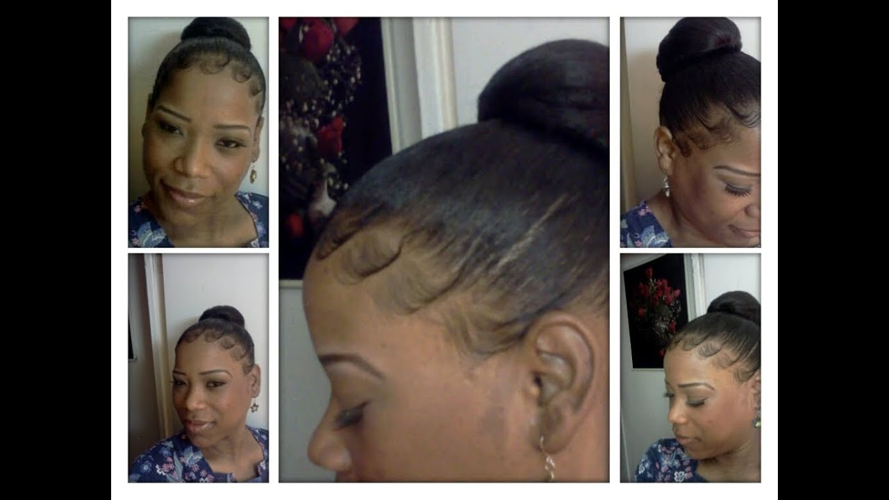Watch As I Jazz Up My Baby Hair With A Bun Youtube