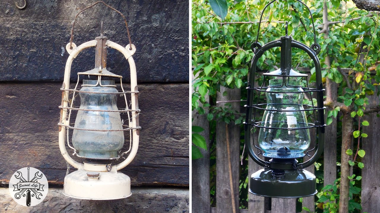 Лампа керосиновая ◃ ║ ▹  Kerosene lamp restoration