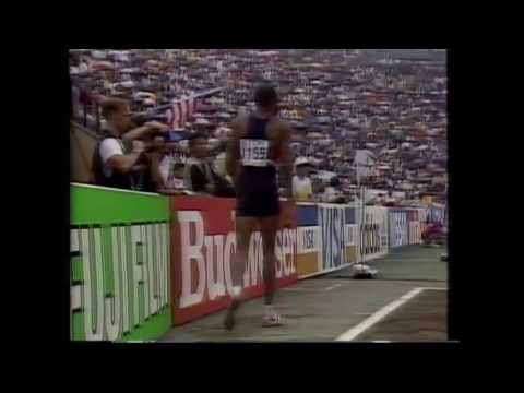 3524 World Track & Field 1991 Long Jump Qualifying Mike Powell
