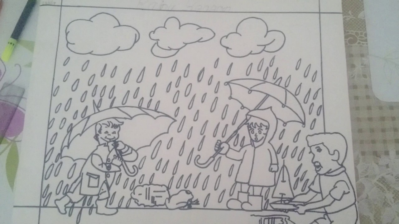 Rainy season drawing by vansh