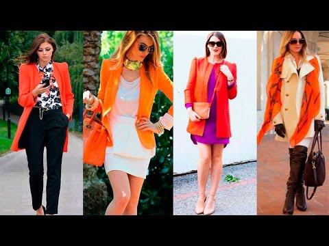 С чем носить кирпичный цвет