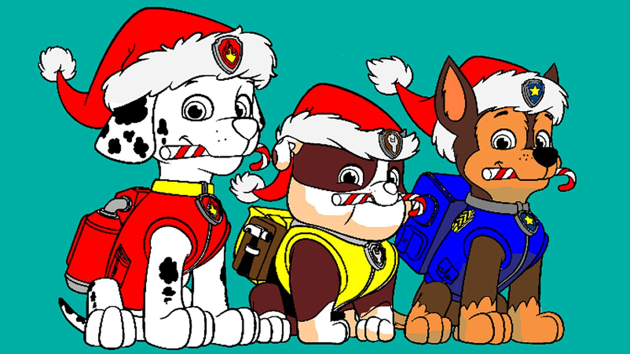 paw patrol coloring pages for kids paw patrol coloring games paw patrol christmas coloring book youtube
