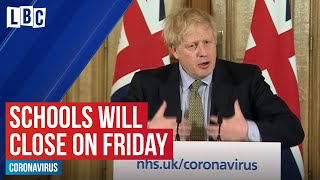 Coronavirus: Schools will shut for everyone except children of 'key workers' | LBC