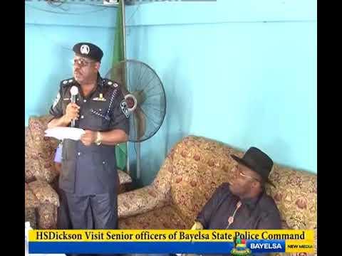 HSDickson - Visit Senior Officers Of Bayelsa State Police Command