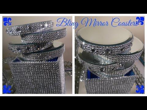 💎 DIY - BLING MIRROR COASTERS - DOLLAR TREE CRAFT / WEDDINGS/ PARTIES/ BRIDAL SHOWERS  (BQ EP #8)