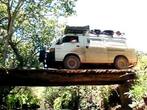 Brug Chisonga rivier Latifa, Nyika Plateau Malawi