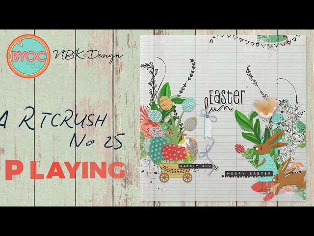 Watch me Scrap with the artCrush 25 Collection
