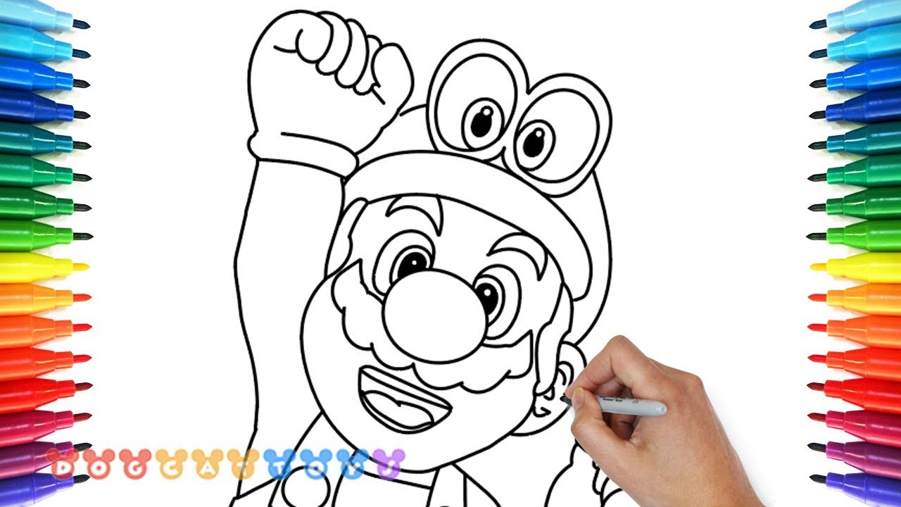 How to Draw Super Mario Odyssey #14 | Drawing Coloring Pages for ...