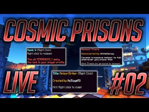 Cosmic Prisons | Custom Title, Top Rank & OP-METEORS!!! (Sahara Planet Map #2)