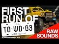 First run of TOWDG3 - Proline 1946 Dodge Power Wagon Tow truck - Raw sounds (no music)