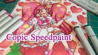 Copic Speedpaint: Cure Whip (Kira Kira Precure: A La Mode) Fan Art