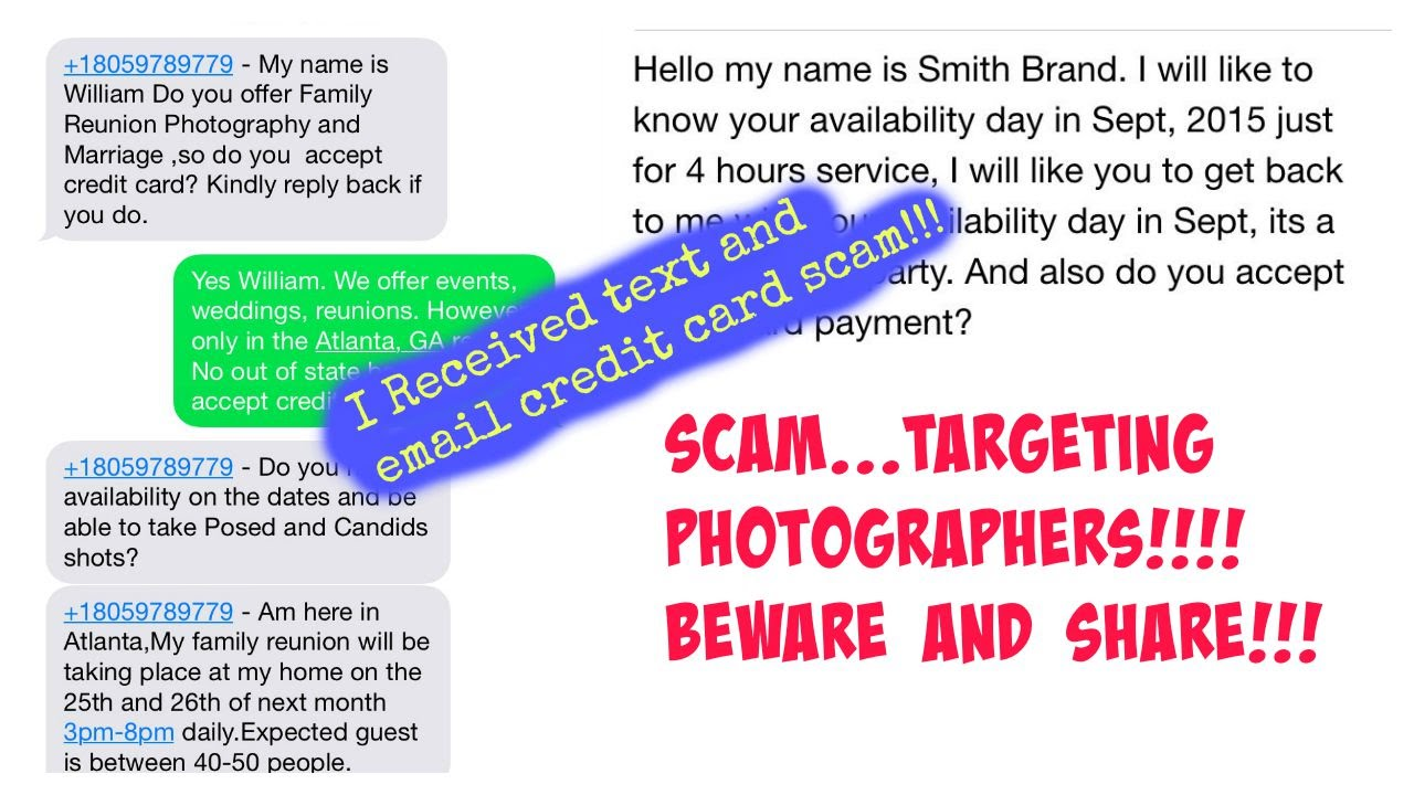 Immediate Credit Card >> Immediate Alert Photography Email Scam Alert Credit Card Fraud