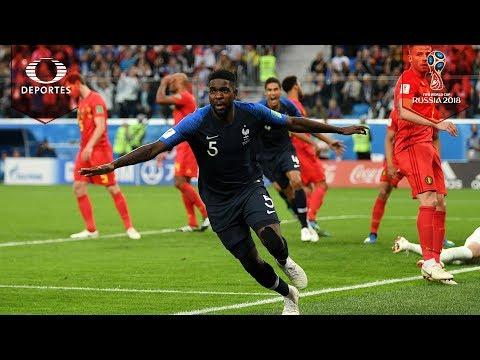 Gol de Umtiti | Francia 1-0 Bélgica | Semifinal | Mundial Rusia 2018