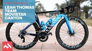 My bike: Leah Thomas' Team Movistar Canyon