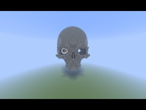 Minecraft: Building A Ginormous Skull