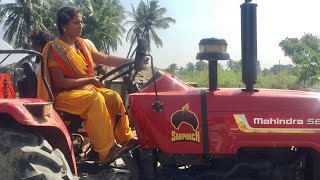 Mahindra 585 DI Sarpanch tractor | Village Girl Driving Tractor Trailer - JCB Machine in India