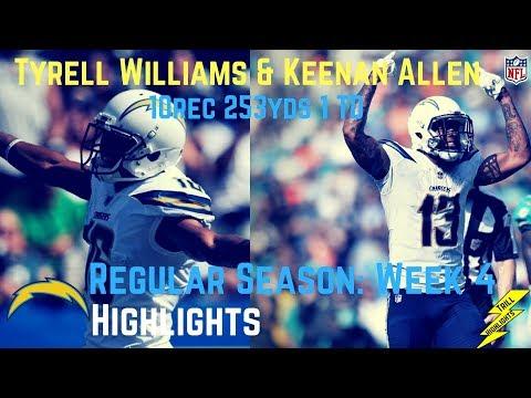 Keenan Allen & Tyrell Williams Week 4 Regular Season Highlights 253 Yards! | 10/01/2017