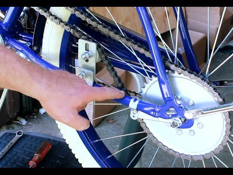 How To Build Motorized Bicycle Part 5 -Size - Cut & Install Drive Chain