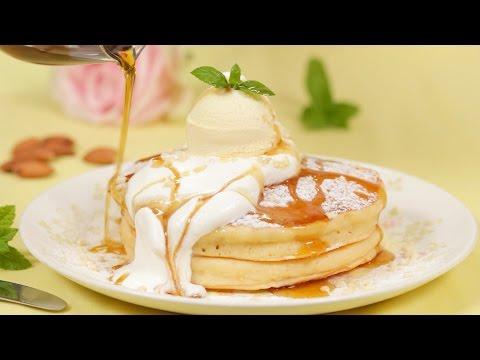 Japanese-style Pancakes (Hotcake Recipe) | Cooking with Dog