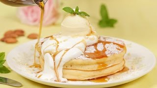 Let's make delicious plain Pancakes with an ice cream topping! We a...