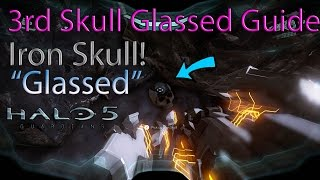 Halo 5 3rd Skull Guide! Iron Skull On Mission Glassed Tutorial!