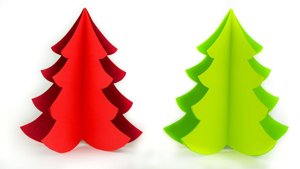 Lavoretti Di Natale Con Carta.Albero Di Natale Con La Carta Tutorial Lavoretti Di Natale Fai Da Te Christmas Crafts Ideas Youtube