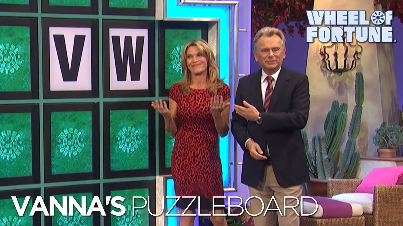 wheel of fortune vannas puzzleboard youtube