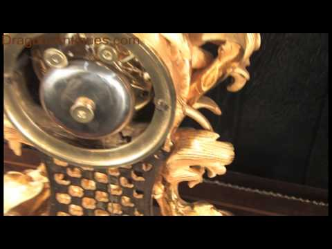 Fine and Early Antique French Rococo Table Clock by Raingo Freres 2610