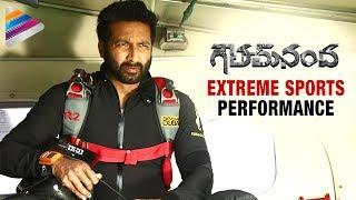 Gopichand Performing Extreme Sports | Goutham Nanda Telugu Movie | Hansika | Catherine Tresa
