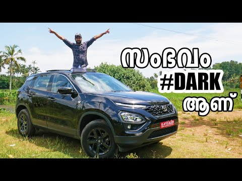 The #Dark, Tata Harrier Dark Edition Test Drive Review with Specifications Malayalam | Vandipranthan